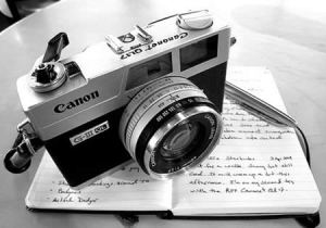 Image result for camera and writing